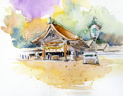 国府宮神社境内 のコピー
