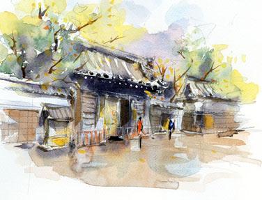 徳川園山門 のコピー